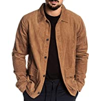 Sunward Coat for Men,Mens Autumn Coat Casual Long Sleeve Solid Tops Corduroy Casual Blouse