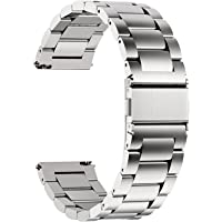 Fullmosa Cinturini per Orologio, Cinturino in Acciaio Inossidabile 22/20/18/16mm, Fibbia in Acciaio Inossidabile…