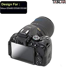 Taslar Tempered Glass Screen Guard Protector for Nikon D5600 D5500 D5300 Camera (Transparent)