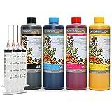 4x 500 ml Sublimatie-inkt, Sublimation Ink compatibel voor Epson, Brother, Roland, Mimaki, Mutoh, CMYK