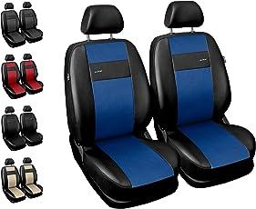 Sitzbezüge Auto Vordersitze Universal Autositzbezüge Schonbezüge Vorne mit Airbag System X-Line - Blau