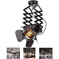 Plafonnier LED Style Rétro Avec Ampoule Edison, Lampe De Plafond Retro Vintage Industriel En Métal, Plafonnier E27…