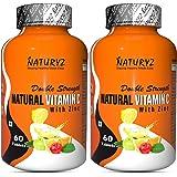 Naturyz Double Strength Natural Vitamin C & Zinc Supplement with Amla, Acerola Cherry, Citrus Bioflavonoids rich in Antioxida