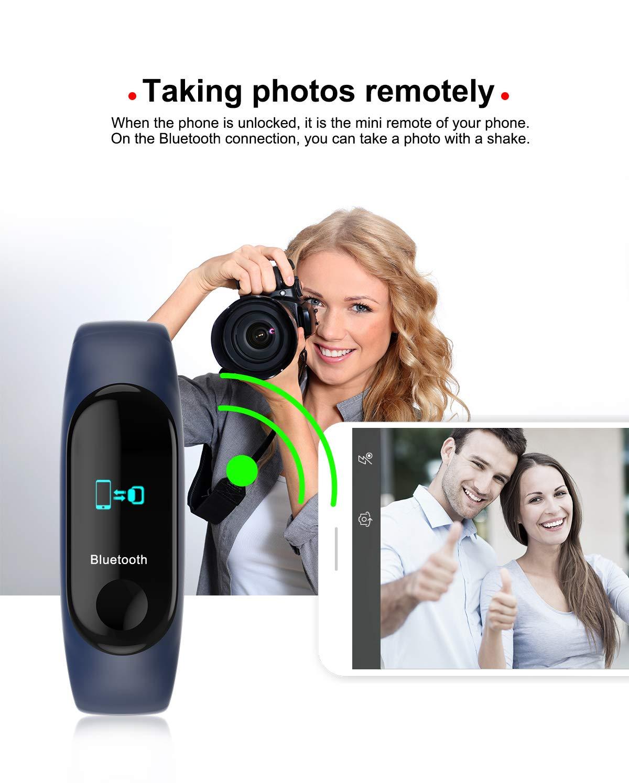 NMJG M3 Pulsera de Actividad, Impermeable IP68 Monitores Inteligente con Pulsómetro Fitness Tracker Smartwatch Reloj Deportivo Monitor Ritmo Cardíaco 4