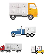 doodad Truck at Work Switch Board Panel Sticker (Vinyl , Standard, Multicolour)