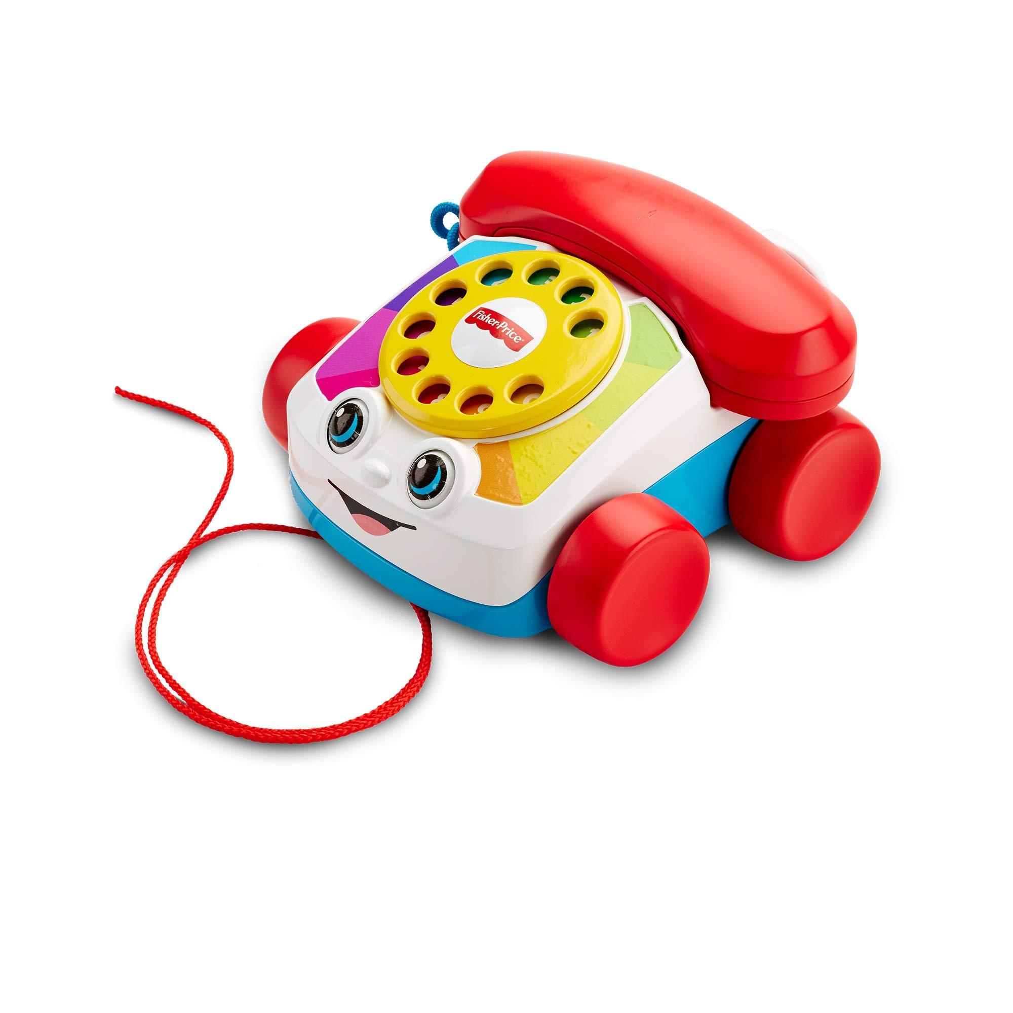 Fisher-Price Teléfono carita divertida, juguete educativo bebé +1 año (Mattel FGW66 )