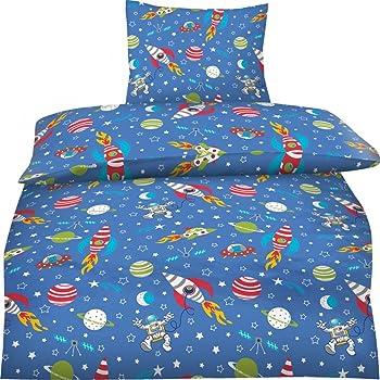 Bettwasche Weltall Weltraum Sterne 135x200 Biberbettwasche