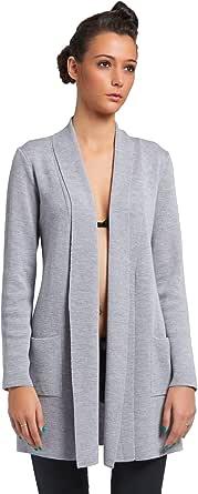 Brunella Gori Cardigan Lungo Donna con Tasche Laterali in 100% Lana Merino Extra fine