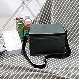 DeHolifer Kühltasche Picknicktasche, Quadratische Einfarbige Picknicktasche Klappbar Thermotasche Mittagessen Isoliertasche L