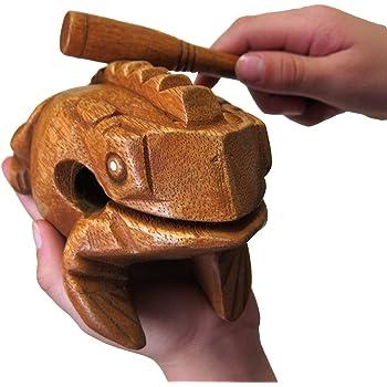 Deluxe Medium 4 Quot Wood Frog Guiro Rasp Musical Instrument