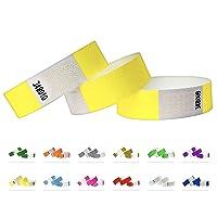 Bracelets d'identification Tyvek 19 mm, 500 pièces, Yellow - Jaune, Bracelets événementiels