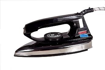 TEFON Aluminum 750W ISI Marked Electric Dry Iron/Press for Everyday Purposes (TEFON_PLATINIUM, Black)