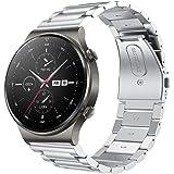 SPGUARD Correa Compatible con Correa Huawei Watch GT2 46mm Huawei Watch GT 2e Correa,Pulsera de Repuesto de Metal de Acero In