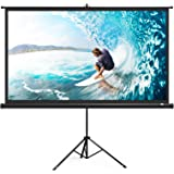 """TaoTronics TaoTronics Projector Screen with Stand, TT-HP020 Indoor Outdoor Movie Projection Screen 4K HD 120"""" 4:3 with Wrinkl"""