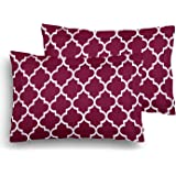 Home Elite Designer Printed Cotton Pillow Covers - Regular Size (18 x 27 inches) - Multicolor - Set of 2