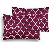 Home Elite Designer Printed Premium Cotton Pillow Covers - Regular Size(17 x 27 inches) - Multicolor - Set of 2