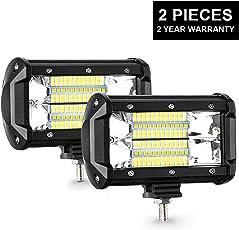 AMBOTHER LED Arbeitsscheinwerfer 5 Inch Zusatzscheinwerfer IP67 Wasserdicht Offroad Scheinwerfer Auto Arbeitslicht 27W (2 Stücke)