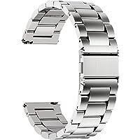 Fullmosa Bracelet Pebble Time Round Bracelet 14mm Argenté Bracelets de Montre en Acier Inoxydable pour Homme/Femme
