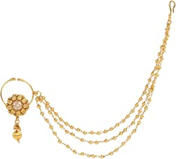 Dancing Girl Nath Bridal Nathni Golden Metal Alloy Nose Ring Nose Ring for Woman