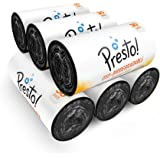 Amazon Brand - Presto! Oxo-Biodegradable Garbage Bags, Medium - 30 bags/roll (Pack of 6)