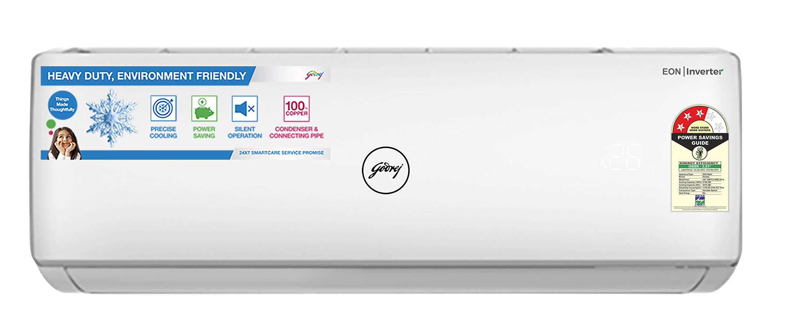 Godrej 1 5 Ton 3 Star Inverter Split AC   Appliances   Best