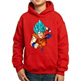 The Fan Tee Sudadera de NIÑOS Dragon Ball Goku Vegeta Bolas de Dragon Super Saiyan 076