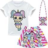 ALAMing - Maglietta a maniche corte con bambola LOL Surprise, t-shirt con bambola, per bambine