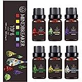 Juego de Aceites Esenciales Florales, Aceites Perfumados de Aromaterapia Orgánica Top 6 Aceites Esenciales Terapéuticos de Gr