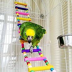 Funny Holz Parrot Bird Toys Aras African Greys Wellensittiche Sittiche Hamster Ratten Leiter kriechen Brücke Funny Käfig Spielzeug