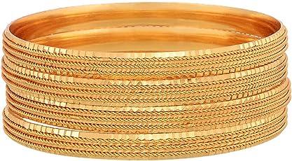 Zeneme Traditional Gold Plated Designer Bangles Jewellery For Women / Girls
