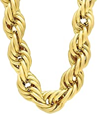 Briva New Stylish 24 Carat Gold Plated Brass Chain for Men