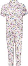 Punkster White Cotton Half Sleeve T-Shirt & Pyjama Set for Boys