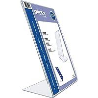 OPUS 2 Présentoir de table, L-Standard, format A3, Portrait – Présentoir de table et dépliant en acrylique transparent…