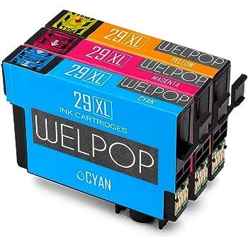 welpop 3 couleur remplacement pour epson 29xl cartouches d 39 encre 1 jaune 1 cyan 1 magenta. Black Bedroom Furniture Sets. Home Design Ideas