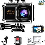NINE CUBE Action Camera 4K Ultra HD WiFi 20MP, Fotocamera Sportiva Impermeabile da 30M, Mic Esterno, grandangolo 170 °, 2.0''