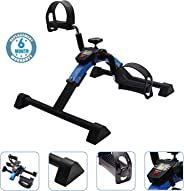 Voroly Portable Ab Exercise Bike Cycle Peddle Exerciser Gym Fitness Exerciser with Adjustable Resistance LCD Display for Leg