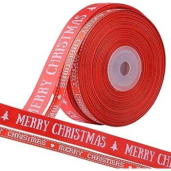 BUONDAC 44m / 2 Muster Weihnachtsbänder Ripsband Satinband ...