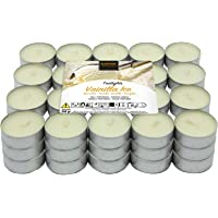 Lot de 60 bougies chauffe-plat parfumées vanille