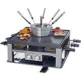 Solis 3 en 1 Combi Grill 796 Appareil a Raclette - Fondue, Raclette et Gourmande - Ensemble gourmet - Grill Electrique - Conv