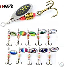10Dare Fishing Bait - Rotating Full Featured Solid Bait | Pack of 10 | 2.5g 6cm Metal | Fishing Spinners & Baits