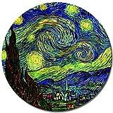 Bilderdepot24 Kunstdruck - Alte Meister - Vincent Van Gogh - Sternennacht - RUND - 40 cm - Leinwandbilder - Bilder als Leinwanddruck - Bild auf Leinwand - Wandbild