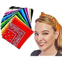 18 PCS Fascia Multicolori per Cappelli, Bandana per Capelli, Collo, Testa, Sciarpa Fazzoletti da Taschino, Disegno…
