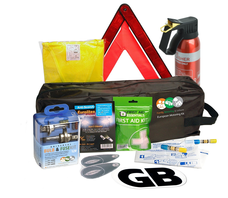 7e823f3fdb62 Full UK France Travel Kit Stay Legal Hi Vis Triangle Breathalyser ...