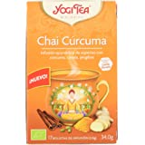 Yogi Tea - Chai Cúrcuma, Infusión Ayurvédica de Especias con Cúrcuma, Canela y Jengibre - 17 Bolsitas, 34g
