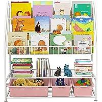 Bibliothèque à 5 étages pour enfants, étagère sur pied, rangement pour jouets, livres, livres, magazines, 82 x 30 x 97…