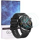 BECEMURU HuaWei Watch GT 2 (46 mm) skärmskydd 9H heltäckande skärmskydd härdat glas skydd för HuaWei Watch GT 2 (46 mm) Smart