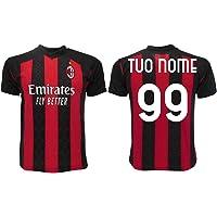 Maglia Milan 2021 Personalizzata Ufficiale 2020-2021 Adulto Ragazzo Bambino Tuo Nome e Numero