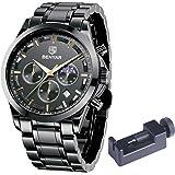 Orologio Uomo BENYAR Acciaio Inossidabile Cronografo Analogico Movimento al Quarzo Moda Business Sportivo orologio da polso 3