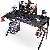Scrivania Gaming 120CM, SIMBR Scrivania PC Computer a Forma di K, Grande Scrivania Gaming Desk per Laptop da Gioco e PC da Uf