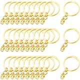 Generic 30 stuks Split sleutelringen met ketting en ringen, split sleutelring met ketting, metalen split, sleutelketting, rin
